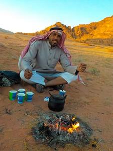Bedouin Tea with Radi in Wadi Rum