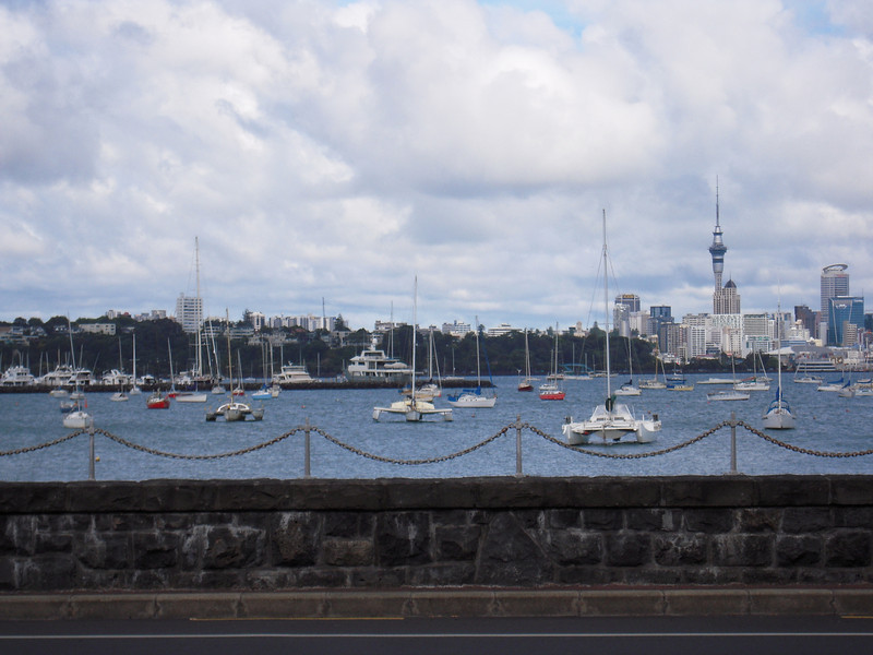 View toward Auckland's harbor.