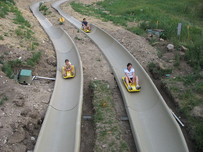 Once again,  the Alpine Slide,  Snow King Mountain Resort, Jackson, WY.