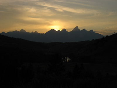Grand Tetons from Gros Ventre Road.