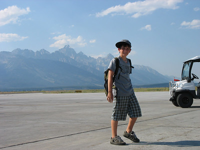 Arriving at Jackson, WY airport, our vacation has started!