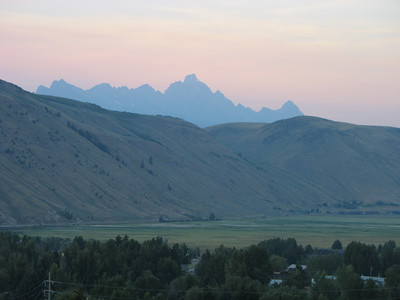 Our first view of the Tetons, from Snow King Mountain Resort, Jackson, WY.