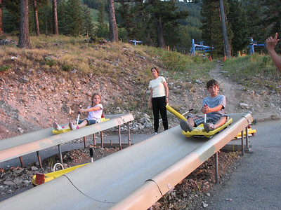Start of the Alpine slide at the Snow King Mountain Resort, Jackson, WY.