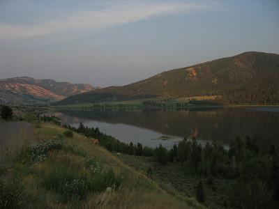 Gros Ventre slide lake, GrandTetons National Park.