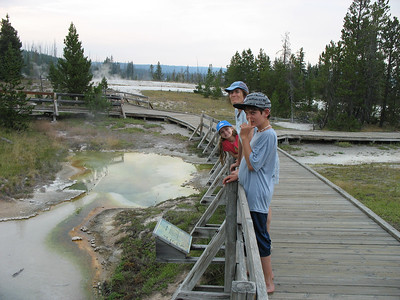 A dog and his owner were boiled in this spring at West Thumb, Yellowstone National Park.