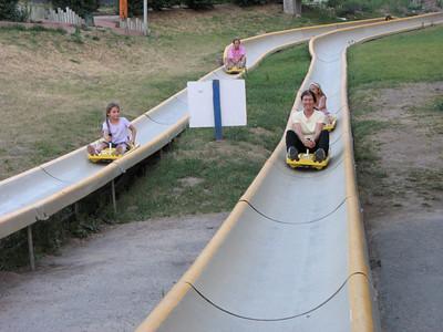 Weeeeeeeeeeeee!!! on the Alpine Slide,  Snow King Mountain Resort, Jackson, WY.