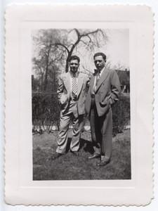 Pete Santangelo with friend 1946