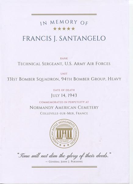 Doc  1 - In Morory Of Francis J  Santangelo