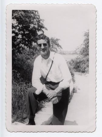 Frank Hajik posing-1947