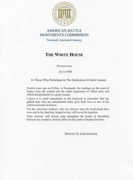 Doc  3 - American Battle Monuments Commission - The White House