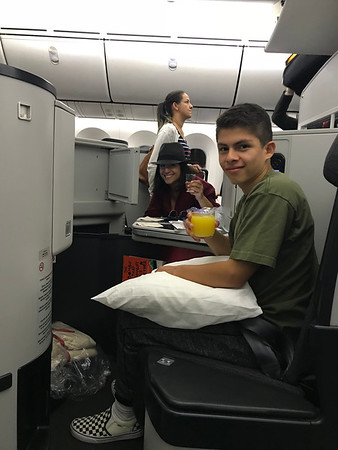 Sebastian's first flight in Business Class