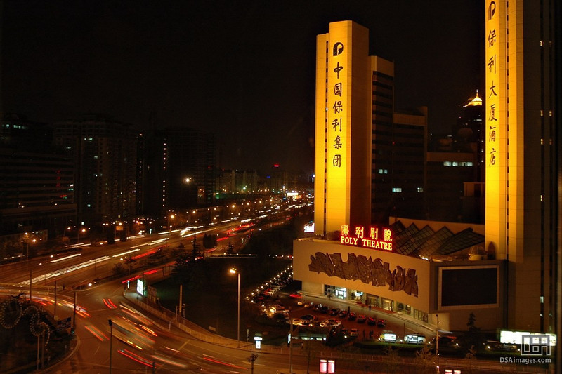 The view from my Beijing hotel room at night.