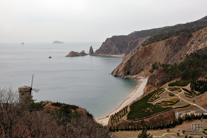 Part of the Chinese coastline in Dalian.