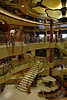 The central atrium on board the Sapphire Princess.