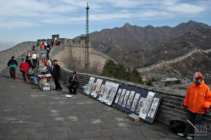 Souvenirs for sale on the Great Wall.