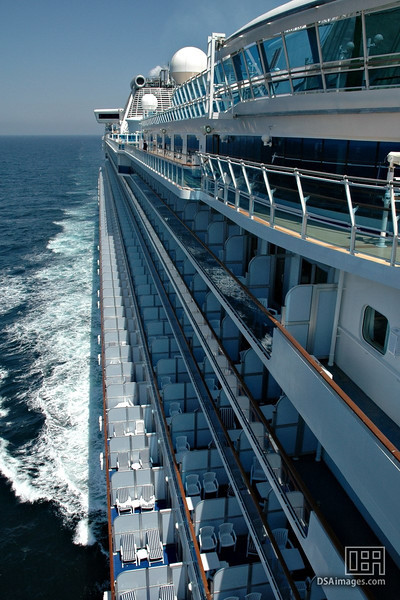Some of the many balconies on board.