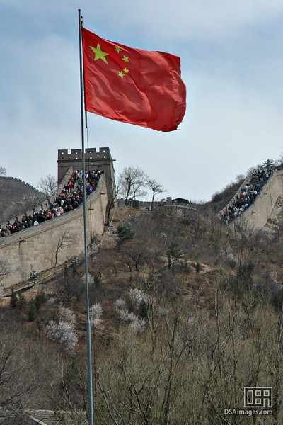 Lots of tourists visit the Great Wall.  Chinese as well as foreign tourists.