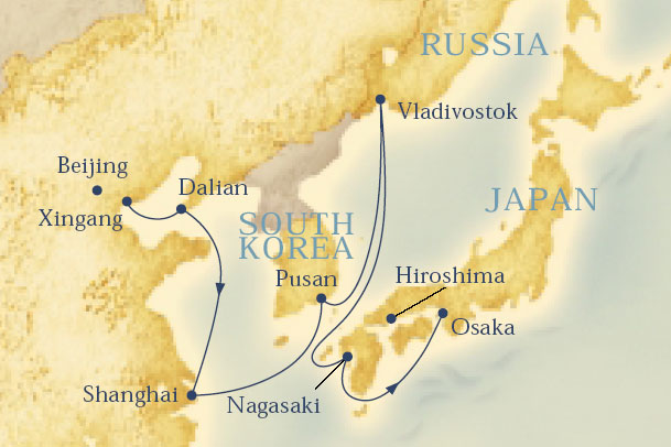 A map of the ports I visited on the cruise.