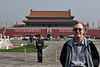 Proof I was at Tiananmen Square, with the Forbidden City behind.