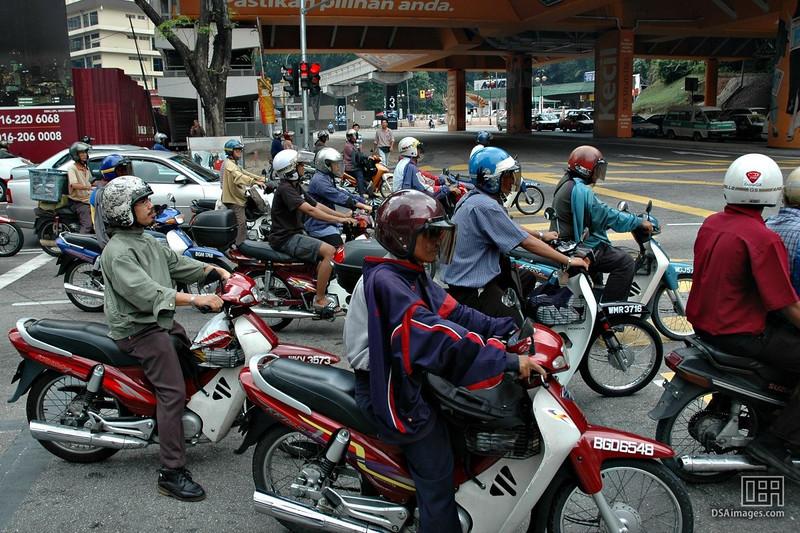 Just a few motor bikes in Kuala Lumpur, Malaysia.