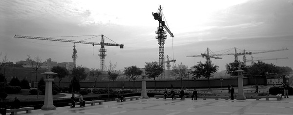 China 213 Cranes Skyline