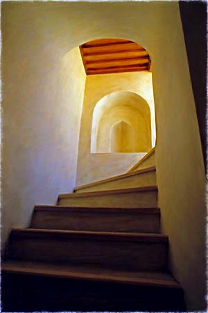 Jibreen Palace Stairs - Oman