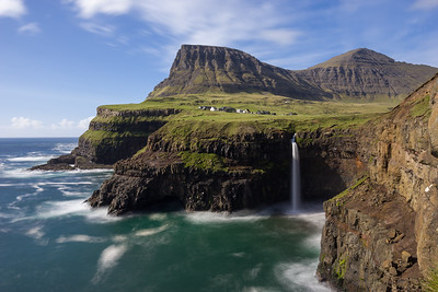 Gasaladur - Mulafossur Waterfall - Faroe Islands