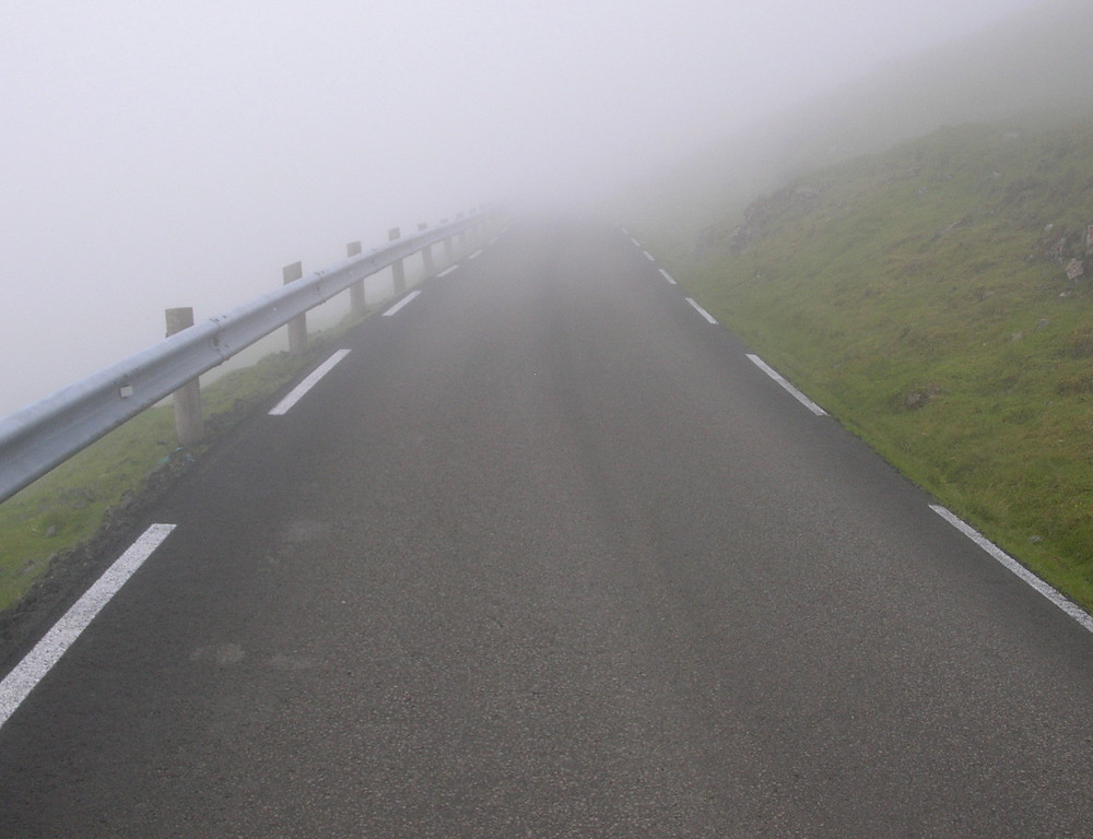 Driving in the Faroes was often gnarly due to fog.