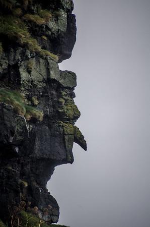 Gjógv - Man with large nose