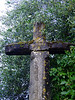 Ancient cross at a very old Catholic church.