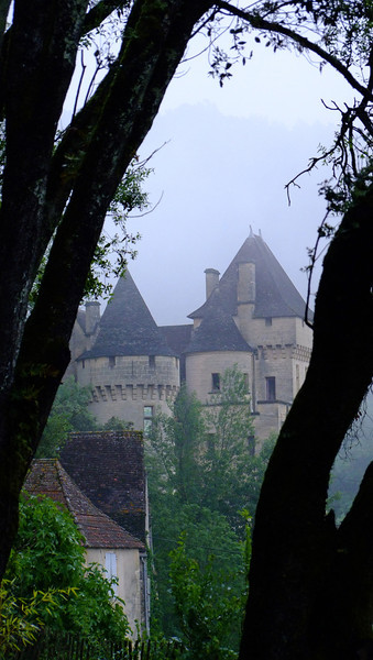 """A foggy view of the """"minor"""" castle."""