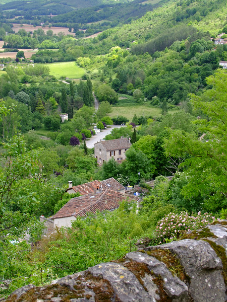 A view from the heights of the medieval town of Cordes.