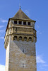 A tower on the Pont Valentre Bridge.