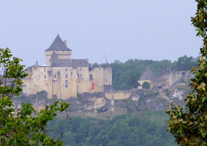View of a medieval castle from our B&B window.