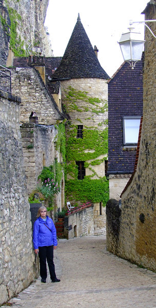 Along an ancient path through the village of La Roque Gageac.