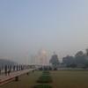 Taj Mahal across the grounds.