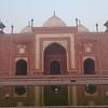 The mosque at the Taj Mahal.