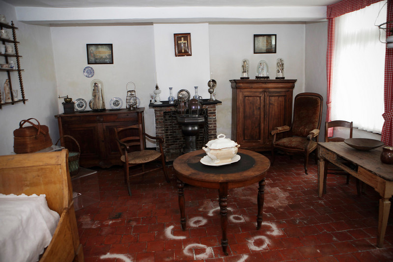 A view of a room of Father Damien's childhood home in Ninde, Ninde, a hamlet of Tremelo, Belgium on October 3, 2009.