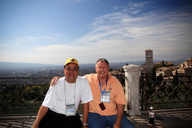 Members of the Hawaii tour pose for a shot in Assisi, Italy on October 9, 2009.