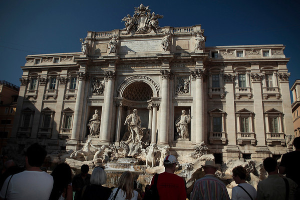 The Hawaii contingent visited Trevi fountain during the Father Damien canonization tour on October 7, 2009, in Rome, Italy.