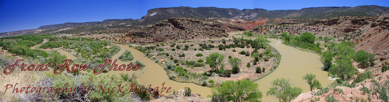 Abiqui River<br /> This is 3 shots stitched together.