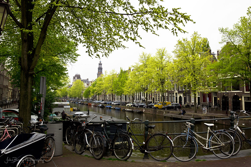 A Canal in Amsterdam with Fall Colors - John Brody - John Brody Photography - John Brody.com