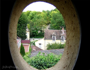 Porthole Window Outside Vincent van Gogh's room - Probably his last view of the world --- JohnBrody.com
