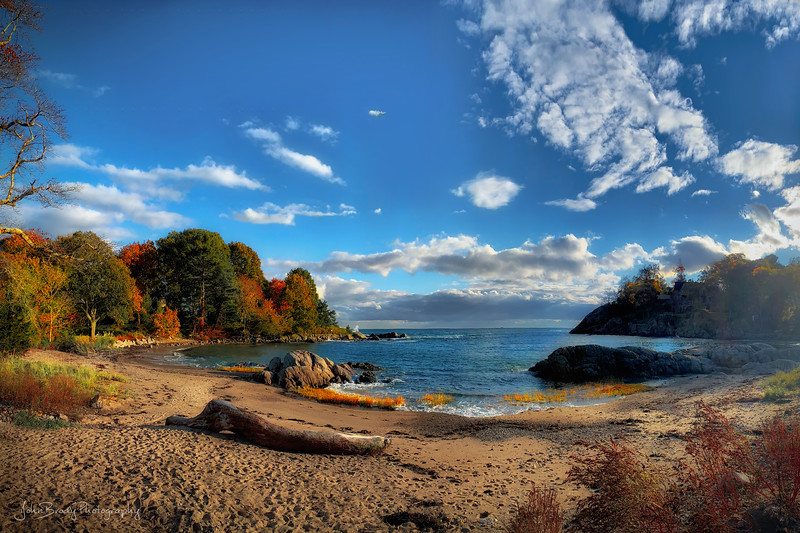 Wide Angle View of Lobster Cove New England  --- John Brody Photography