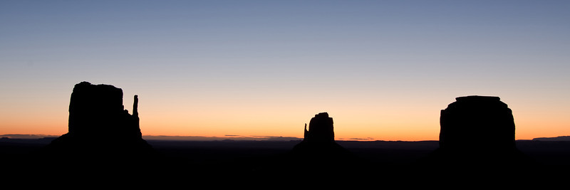 Dawn approaches Monument Valley
