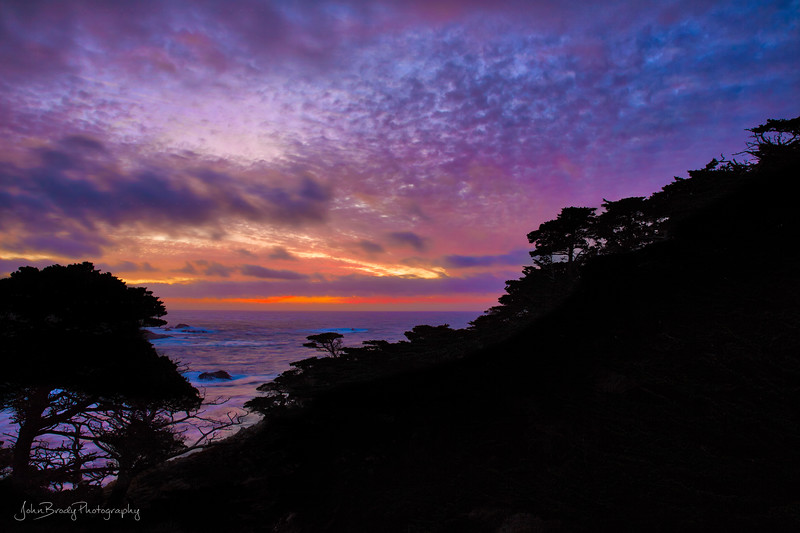 Multi-Colored Sunset near Monterey at Point Lobos on the California Coast  -  JohnBrodyPhotography  - JohnBrody .com