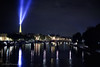 Light Beams from the Eiffel Tower over Pont des Arts Paris ---  JohnBrody.com / John Brody Photography