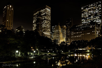 Skyline Reflection of Central Park NYC  by the Plaza and the well known NYC Apple Store - JohnBrody.com / John Brody Photography