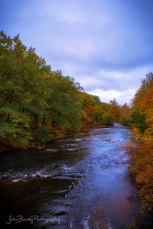 Autumn River on a Stormy Day in Massachusetts - John Brody Photography / JohnBrodyPhotography.com