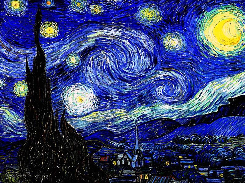 Vincent Van Gogh - Starry Starry Night 1889 - Museum of Modern Art, New York City - John Brody Photography --- JohnBrody.com